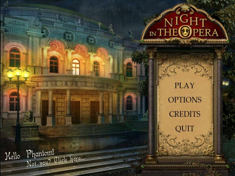 Перед вами новая игра от Алавар под названием Ночь в опере. Версия