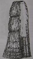 Нижняя юбка c турнюром, 1896 г.