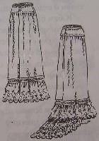 Нижняя юбка из батиста со съемным шлейфом (справа), 1882 г.
